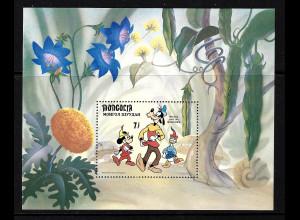 """Mongolei: 1984, Blockausgabe Walt-Disney: """"Micky-Maus und die Bodenranke"""""""