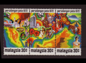 Malaysia: 1972, Tourismus-Konferenz (Dreierstreifen)