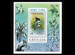 Grenada: 1976, Blockausgabe Gürtelfischer (Vogel)