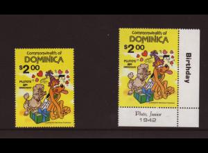 Dominica: 1981, Walt-Disney-Figuren (Pluto, Einzelmarke)