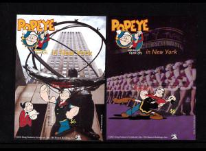 "Dominica: 2002, Blockpaar Comicfigur ""Popeye"""
