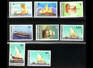 Malediven: 1978, Schiffe