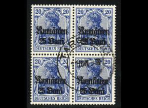 Militärverwaltung in Rumänien: 1918, Germania-Überdruck 25 B. auf 20 Pfg.
