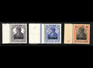 Militärverwaltung in Rumänien: 1917, Germania Rahmenüberdruck ohne MViR