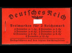 1940, Markenheftchen Hindenburg ONr. 15 (M€ 250,-)