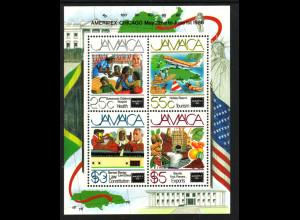 Jamaika: 1986, Blockausgabe Briefmarkenausstellung AMERIPEX