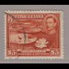 Guyana: 1938, Freimarke König Georg VI. mit Riesenseerose 3 $ (Höchstwert)