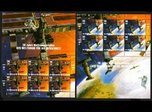 UNO Wien: 2007, Kleinbogensatz 50 Jahre Weltraumfahrt