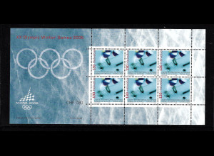 Schweizer Ämter, Olypisches Komitee IOC) 2006, Kleinbogen Winterolympiade Turin