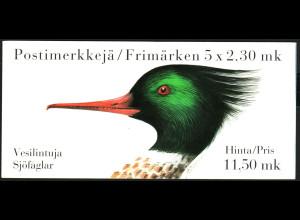 Finnland: 1993, Markenheftchen Wasservögel