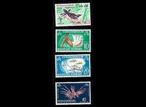 Neue Hebrieden: 1965, Freimarken Pflanzen und Tiere (französische Ausgabe ohne WZ)