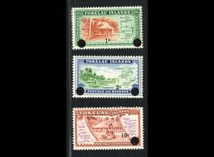 Tokelau-Inseln: 1967, Freimarken-Überdruckausgabe