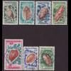 Wallis- und Futuna-Inseln: 1962, Meeresschnecken (ohne Höchstwert Taucher)