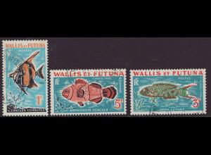Wallis- und Futuna-Inseln: 1963, Portomarken Fische