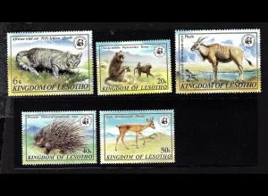 Lesotho: 1981, Bedrohte Tiere (frühe WWF-Ausgabe)