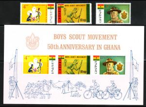 Ghana: 1967, Pfadfinder (Satz und Blockausgabe)
