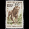 Niger: 1960, Überdruckausgabe Löwe