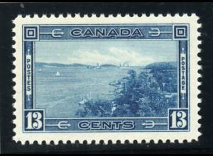 Kanada: 1938, Freimarke 13 C. Hafeneinfahrt Halifax (postfrisches Einzelstück aus Satz, Katalognotierung + 100 %)