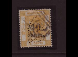 Hongkong: 1876, Königin Victoria 10 auf 16 C. (Marke in guter zweiter Wahl)