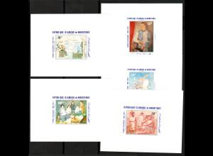 Mauretanien: 1981, Gemälde von Picasso (5 ungezähnte Luxusblockausgaben)