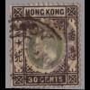 Hongkong: 1903, König Eduard 30 C. (WZ 2)