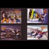 """Gambia: 2002, Blocksatz Comicfigur """"Popeye"""" beim Wintersport (4 Blockausgaben)"""