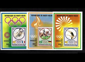 Obervolta: 1972, Blocksatz Medaillengewinner bei der Sommerolympiade München