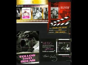 Liberia: 2011, Blocksatz Elvis Presley (4 Blöcke)