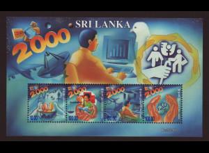 Sri Lanka: 2000, Blockausgabe Jahrtausendwende