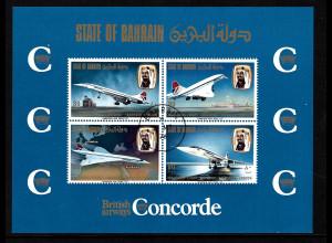 Bahrain: 1976, Blockausgabe Concorde