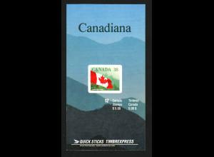 Kanada: 1989, Markenheftchen Staatsflagge 38 C.