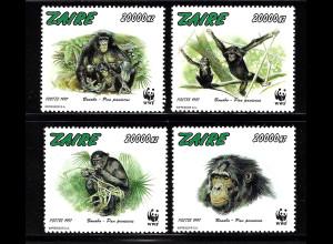 Kongo / Zaire: 1997, Bonobo (Affenart, WWF-Ausgabe)