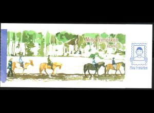 Aland: 2008, Markenheftchen Meine Marke (Pferd mit Reiter)
