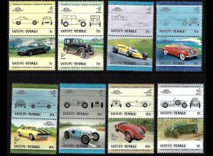 Tuvalu - Vaitupu: 1984, Zusammendruckpaare Automobile