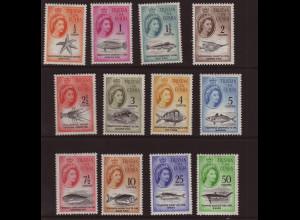 Tristan da Cunha: 1961, Freimarken Meerestiere (ohne Höchstwert 1 R.)