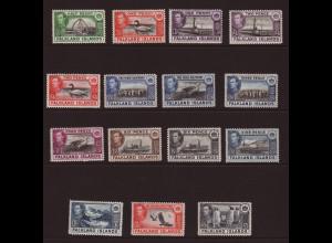Falklandinseln: 1938, König Georg VI. und einheimische Motive
