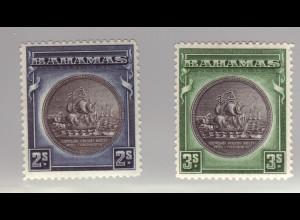 Bahamas: 1931, Wappen 2 und 3 Sh.