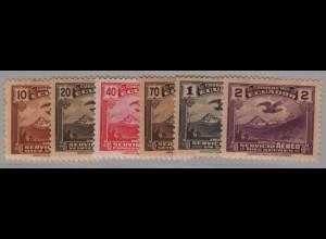 Ecuador: 1937/47, Freimarken Kondor (Ausgabe komplett, teilweise Gummifehler)