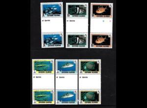 Kaiman-Inseln: 1979, Fische (senkr. Zwischenstegpaare)