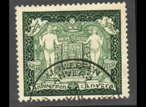 Belgien: 1930, Einzelmarke aus Blockausgabe Briefmarkenausstellung Antwerpen