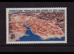 Dschibuti (Afar und Issa): 1968, Reliefkarte des Landes