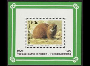Bophuthatswana (Südafrikanisches Homeland): 1990, Blockausgabe Säugetiere (Kap-Klippschiefer)