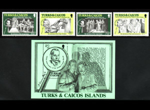 Turks- und Caicos-Inseln: 1984, Athur Conan Doyle (Schriftsteller)