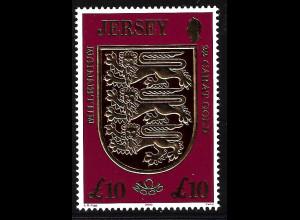 Jersey: 2000, Jahrtausendwende, Goldmarke Wappen 10 £