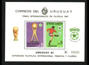 Uruguay: 1981, Blockausgabe Fußball