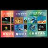 Bhutan: 1970, Blocksatz Eroberung des Weltraums (3D-Folie)