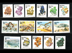 Namibia: 1991, Freimarken Mineralien und Bergwerke