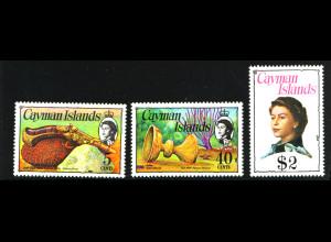 Kaiman-Inseln: 1979, 3 Freimarken in kleinerem Format (M€ 30,-)