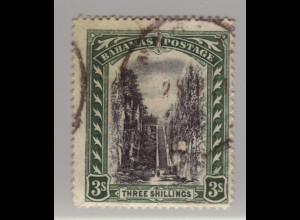 Bahamas: 1917, Königsstreppe 3 Sh. (etwas verstempelter Höchstwert, M€ 80,-)