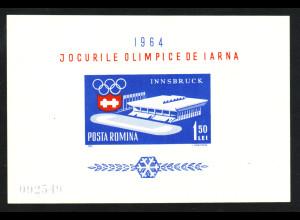 Rumänien: 1963, Blockausgabe Winterolympiade Innsbruck